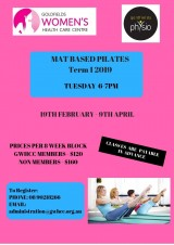 8 week Mat Based Pilates Course